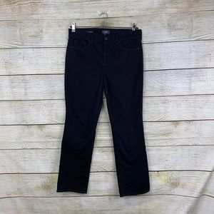 NYDJ Marilyn Straight Stretchy Black SHORT Jeans
